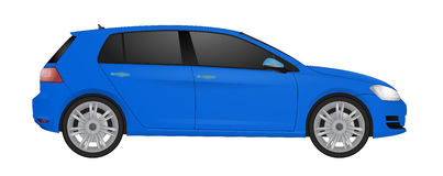 Realistic model car  on background. Detailed drawing. Vector illustration. Stock Photo
