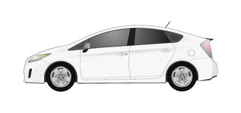 Realistic model car  on background. Detailed drawing. Vector illustration. Royalty Free Stock Photo