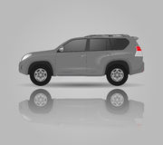 Realistic model car  on background. Detailed drawing. Vector illustration. Stock Photography