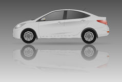 Realistic model car  on background. Detailed drawing. Vector illustration. Stock Image