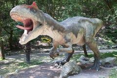 Realistic model of dinosaur Allosaurus Stock Photos