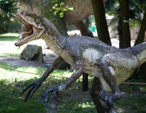 Realistic model of dinosaur stock photos
