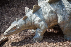 Realistic model of dinosaur - Stegosaurus Royalty Free Stock Photos