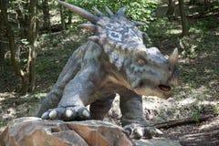 Realistic model of dinosaur Styrakosaurus Stock Image