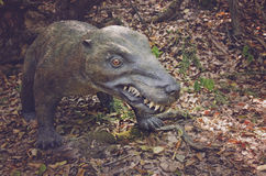 Realistic model of dinosaur from trias,predator from triassic period, Jurassic Park. Royalty Free Stock Photo