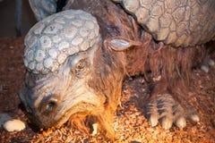 Realistic model of prehistoric animal Stock Photo