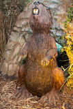 Realistic model of prehistoric animal Royalty Free Stock Photo