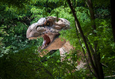 Realistic model of Tyrannosaurus Rex Stock Photo