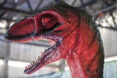 Realistic model of Velociraptor dinosaur Stock Images