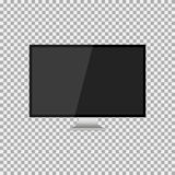 Realistic modern, blank screen lcd, led, TV, monitor on isolate background with pedestal. Vector illustration Stock Photo
