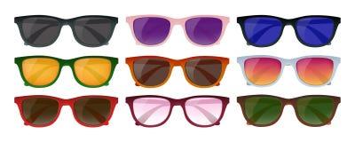 Hipster Sunglasses Set Stock Photo