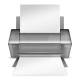 Realistic modern printer. Royalty Free Stock Images
