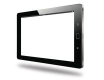 Realistic modern tablet horizontal side view  Stock Photography