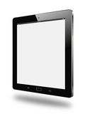Realistic modern tablet side view   Royalty Free Stock Photo