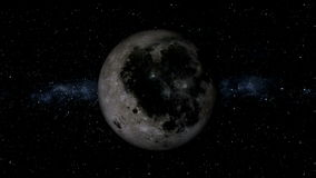 Realistic Moon stock video