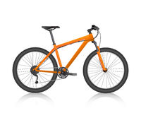 Realistic mountain bike orange vector Stock Image