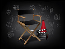 Realistic Movie Elements with Doodles. Realistic 3D Movie Elements with Doodles Stock Images