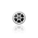 Realistic movie film reel  illustration Royalty Free Stock Photo