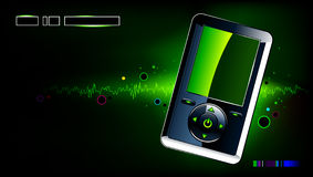 Realistic mp3 player. On modern background Stock Images