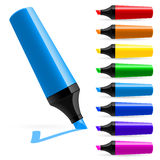 Realistic multi-colored markers Stock Image