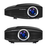 Realistic multimedia projector. Illustration on white background for design Stock Photography