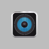 Realistic music speaker on a light background Royalty Free Stock Photography