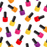 Realistic Nail Polish Seamless Pattern Background Stock Images