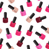 Realistic Nail Polish Seamless Pattern Background Royalty Free Stock Images