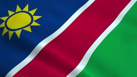 Realistic Namibia flag stock video footage