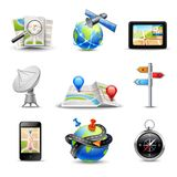 Realistic Navigation Icons Royalty Free Stock Image
