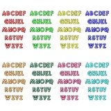 Realistic neon alphabet. Bright neon glowing font. Vector format. Vector illustration royalty free illustration