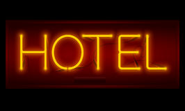 Realistic neon Hotel inscription Royalty Free Stock Photo