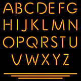 Realistic Neon Tube Letters. Vector Illustration. Neon Alphabet. Royalty Free Stock Photos