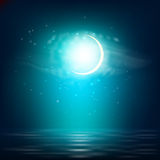 Realistic night landscape Royalty Free Stock Images