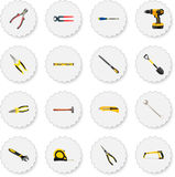 Realistic Nippers, Handle Hit, Wrench Vector Elements. Set Of Instruments Realistic Symbols Also Includes Level, Drill. Set Of Instruments Realistic Symbols Also Royalty Free Stock Image