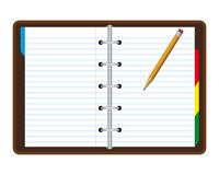 Realistic note book. With a pencil Royalty Free Stock Photo