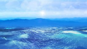 Realistic ocean, Abstract Background 3D rendering. Abstract Background with nice realistic ocean Royalty Free Stock Photography