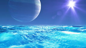 Realistic Ocean on Exoplanet, Abstract Background stock footage