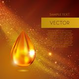 Realistic oil or honey vector drop. Illustration vector illustration
