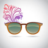 Realistic old-fashioned hipster glasses Royalty Free Stock Image