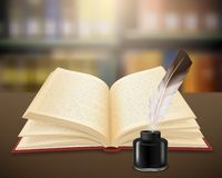 Free Realistic Open Book Literary Work Royalty Free Stock Image - 126653416