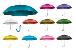 Realistic open umbrella set - vector. Illustration Royalty Free Stock Photography