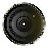 Realistic optical camera lens. In vector Stock Image