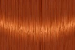 Realistic orange red straight hair texture Royalty Free Stock Photography