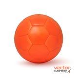 Realistic orange soccer ball Royalty Free Stock Photos