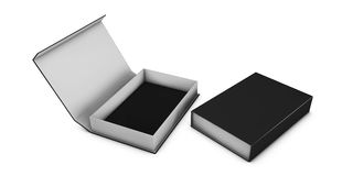 Realistic Package Cardboard Box set. For Software, electronic device and other products. Stock Images