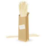 Realistic package spaghetti Stock Photography