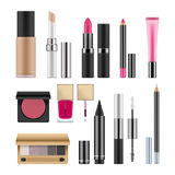 Realistic packages for decorative cosmetics. Stock Photography