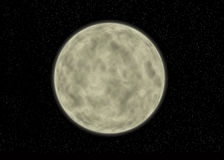 Realistic Painted Moon. Realistic moon created only with Photoshop CS Stock Photos