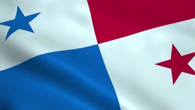 Realistic Panama flag stock video footage